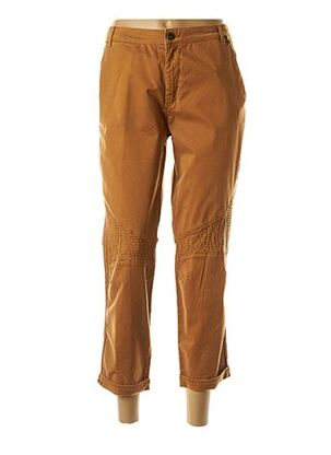 Pantalon 7/8 marron EVA KAYAN pour femme