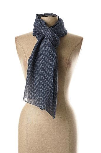 Foulard bleu WEINBERG pour femme