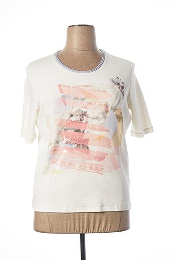 T-shirt manches courtes blanc BASLER pour femme