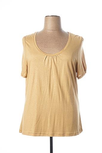 T-shirt manches courtes jaune DEVERNOIS pour femme