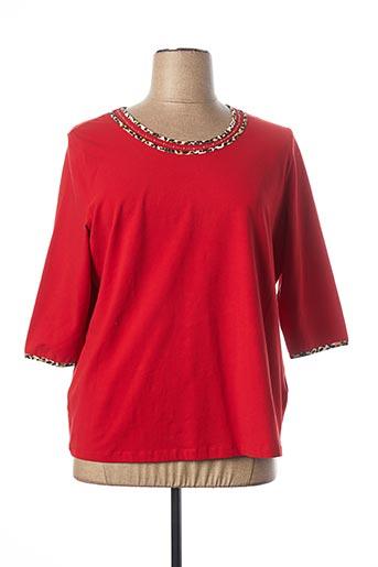 T-shirt manches longues rouge BASLER pour femme