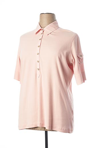 Polo manches courtes rose RABE pour femme