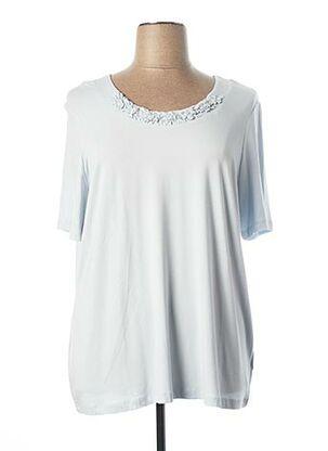 T-shirt manches courtes bleu LEBEK pour femme