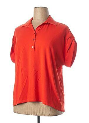 Polo manches courtes orange WEINBERG pour femme