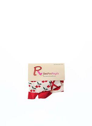 Chaussettes rouge DESPASRAYES pour fille