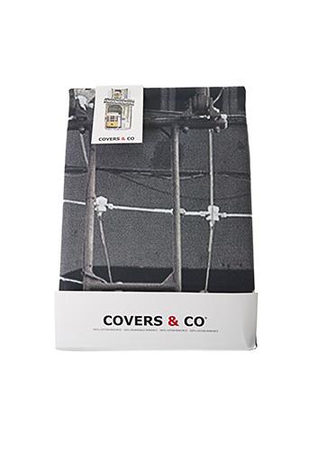 Parure de lit gris COVERS & CO pour unisexe