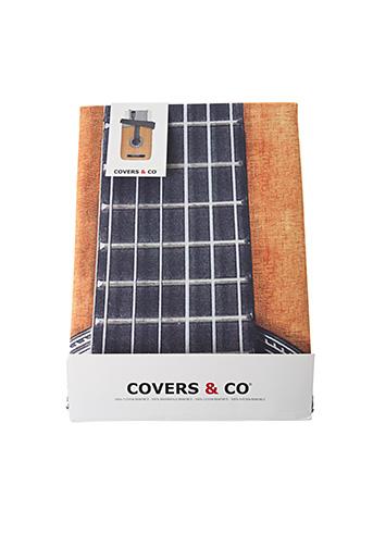 Parure de lit orange COVERS & CO pour unisexe