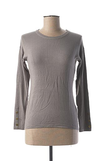 Pull col rond gris COTE ANGLAISE pour femme