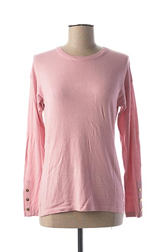 Pull col rond rose COTE ANGLAISE pour femme