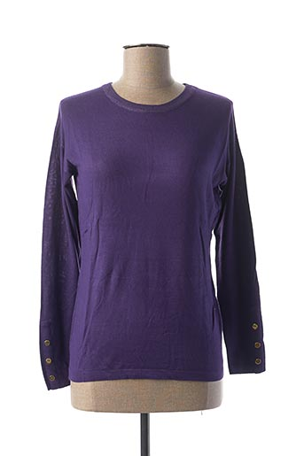 Pull col rond violet COTE ANGLAISE pour femme