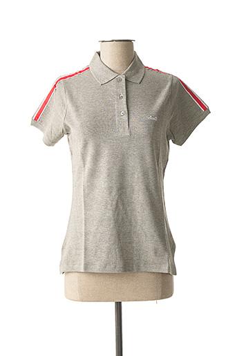Polo manches courtes gris SCOTT pour femme