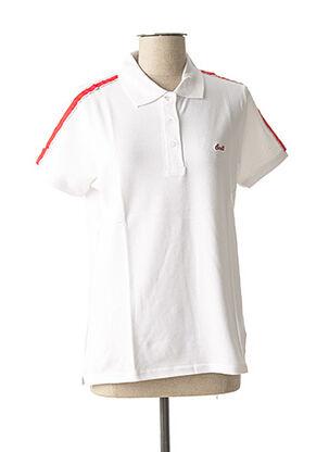 Polo manches courtes blanc SCOTT pour femme