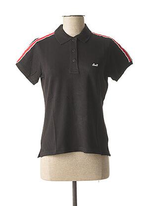 Polo manches courtes noir SCOTT pour femme