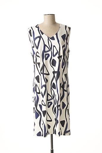Robe mi-longue blanc GEVANA pour femme