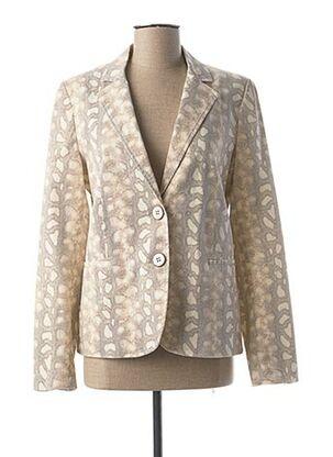 Veste chic / Blazer beige RIVIERES DE LUNE pour femme