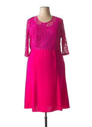 Robe mi-longue rose ANNE KELLY pour femme