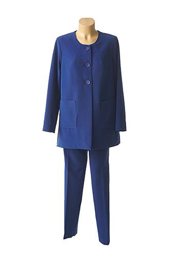 Veste/pantalon bleu ANNE KELLY pour femme