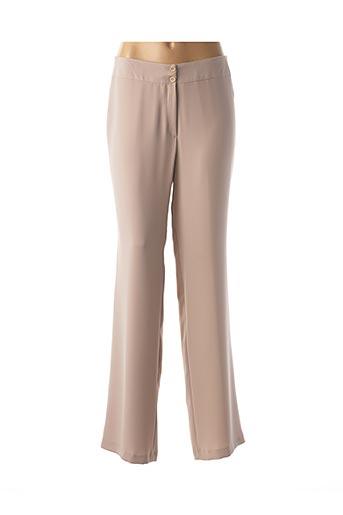 Pantalon chic beige ANNE KELLY pour femme