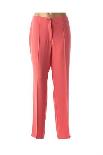 Pantalon chic orange LEBEK pour femme
