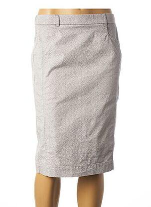 Jupe mi-longue gris FRANK WALDER pour femme
