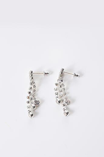 Boucles d'oreilles gris DEJEAN pour femme