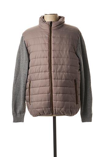 Manteau court gris REVER MILE pour homme