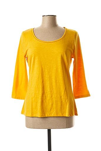 T-shirt manches longues jaune LA FIANCEE DU MEKONG pour femme