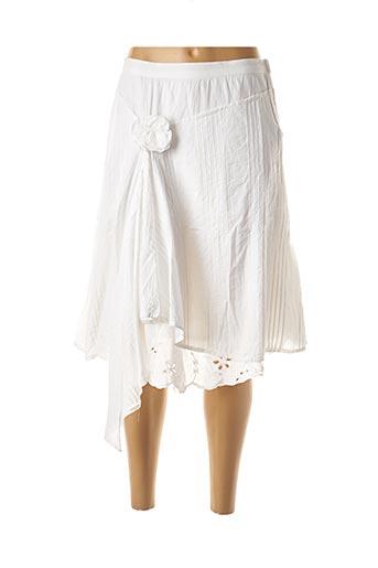 Jupe courte blanc DOUBLE ONE PEACE pour femme