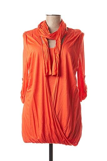 T-shirt manches longues orange CAROLINE BISS pour femme