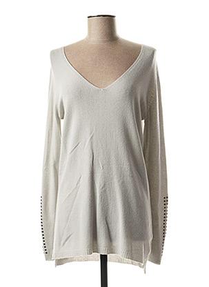 Pull tunique gris LAUREN VIDAL pour femme