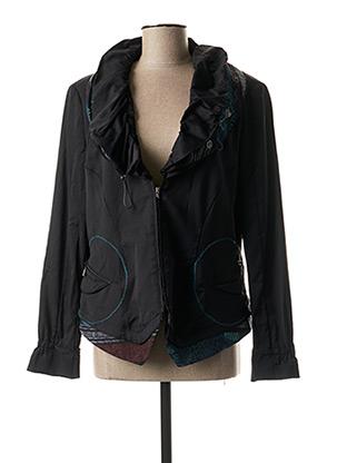 Veste casual noir O.K.S pour femme