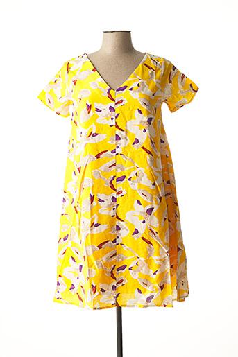 Robe mi-longue jaune COMPAÑIA FANTASTICA pour femme