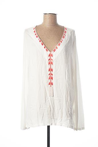 T-shirt manches longues blanc MARC AUREL pour femme