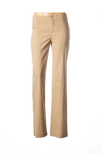 Pantalon casual beige PIER ANTONIO GASPARI pour femme