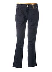 Pantalon casual bleu HIGH pour femme seconde vue