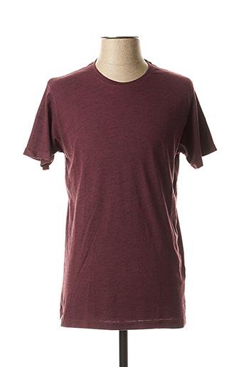 T-shirt manches courtes rouge HOPENLIFE pour homme