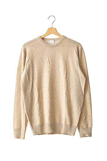 Pull col rond beige ASKET pour homme