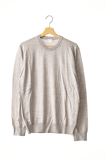 Pull col rond gris ASKET pour homme