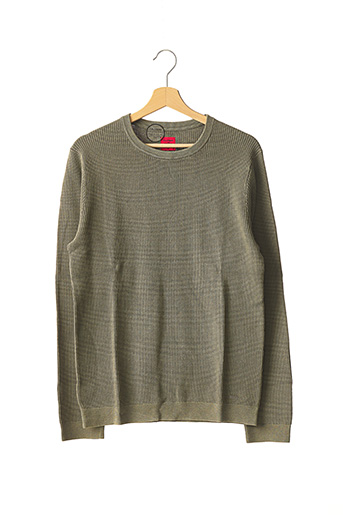 Pull col rond vert OLYMP pour homme