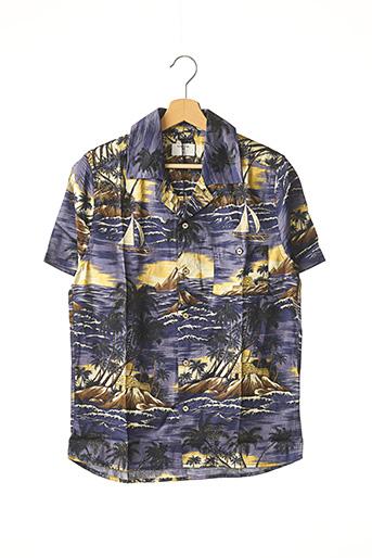 Chemise manches courtes bleu PERCIVAL pour homme