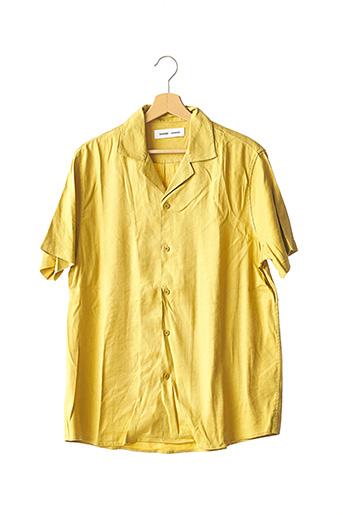 Chemise manches courtes jaune SAMSOE & SAMSOE pour homme