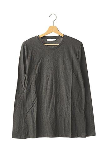 T-shirt manches longues gris SAMSOE & SAMSOE pour homme