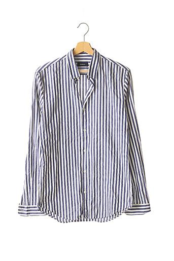 Chemise manches longues bleu BALIBARIS pour homme