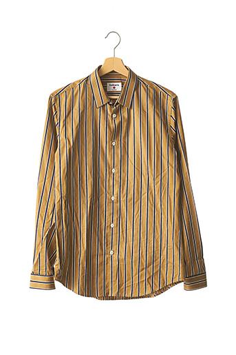 Chemise manches longues marron BALIBARIS pour homme
