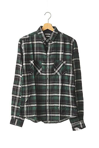Chemise manches longues vert IKKS pour homme