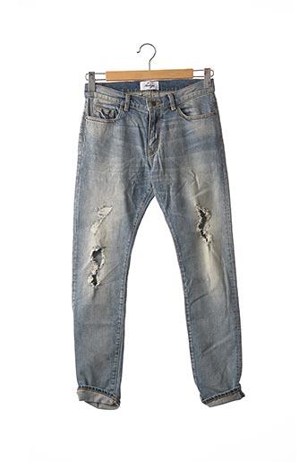Jeans coupe slim bleu FORAGE pour homme