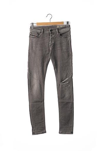 Jeans coupe slim gris DIESEL pour homme