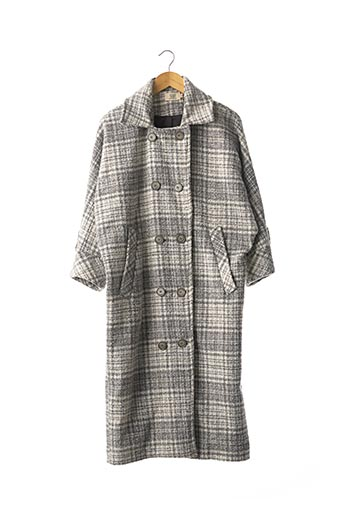 Manteau long gris SAAJ pour femme