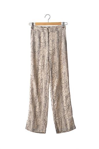 Pantalon casual beige MANGO pour femme