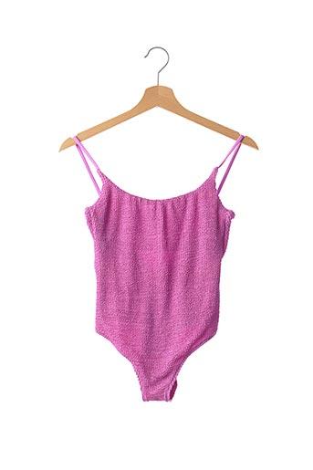 Maillot de bain 1 pièce violet CALZEDONIA pour femme
